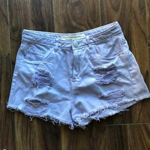 [Nasty Gal] Lavender High Waisted Shorts